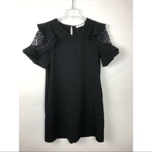 LUSH Lace Sleeve Cut-our Dress